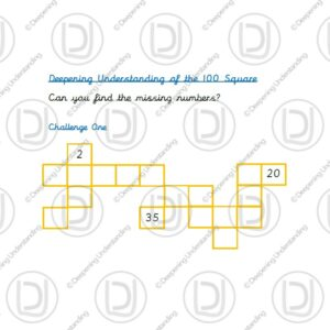 Year 1 - 100 Square Missing Numbers