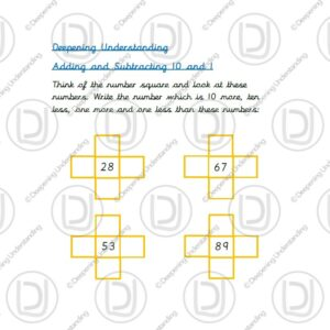 Year 1 Adding and Subtracting 10 and 1