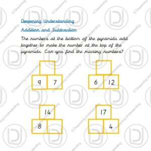 Year 1 Addition and Subtraction Pyramids