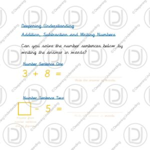 Year 1 Addition and Subtraction - Writing Numbers