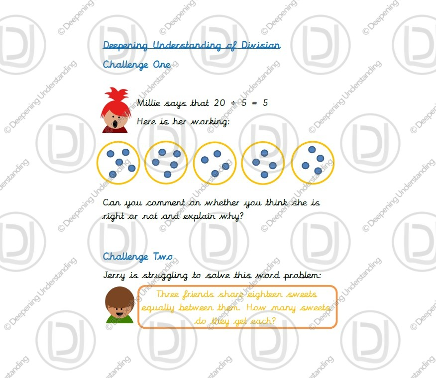 Year 1 Deepening Understanding of Division