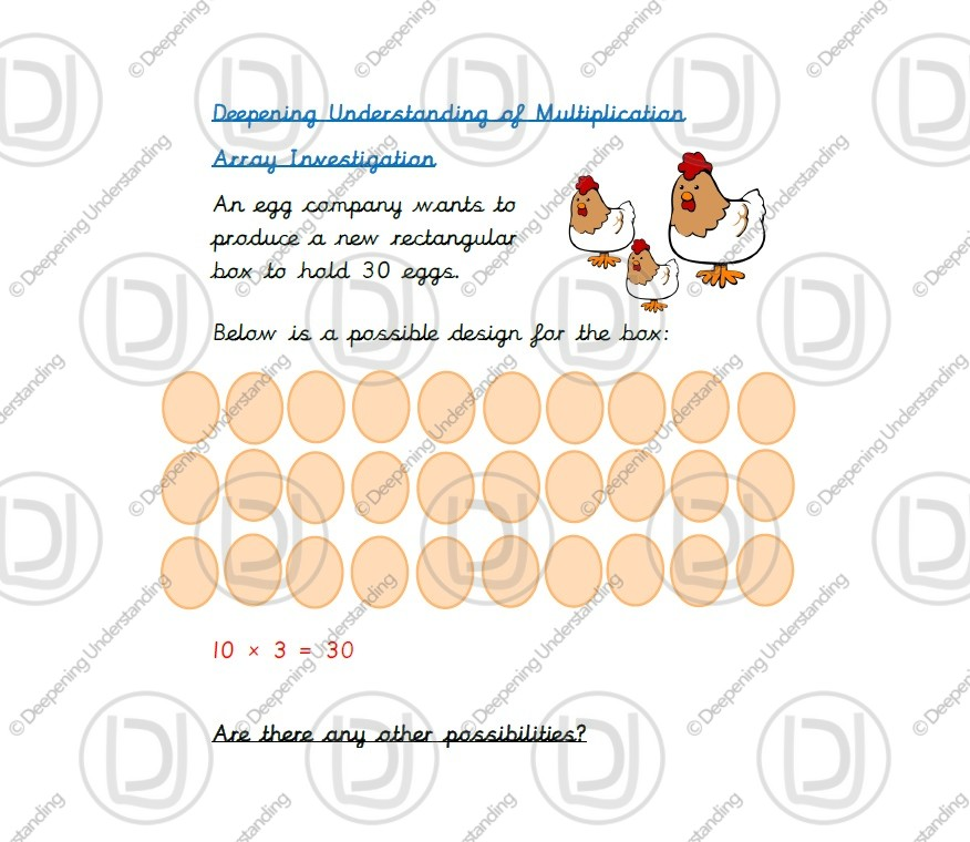 Year 2 Multiplication – Array Investigation