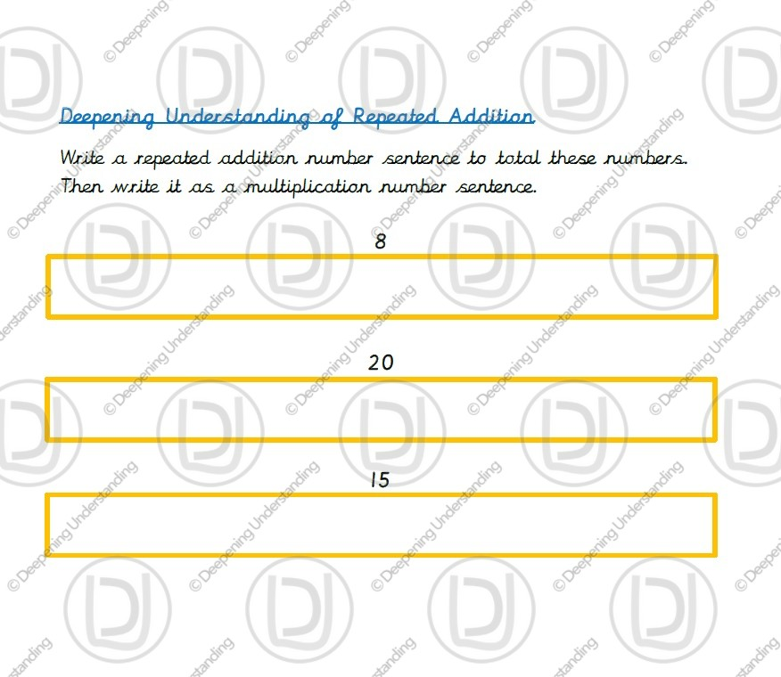 Year 2 – Repeated Addition