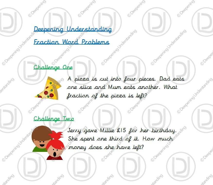 Year 2 – Fraction Word Problems
