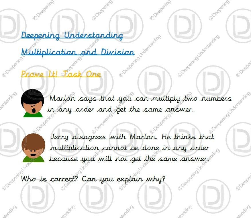 Year 2 Multiplication and Division – Prove it!