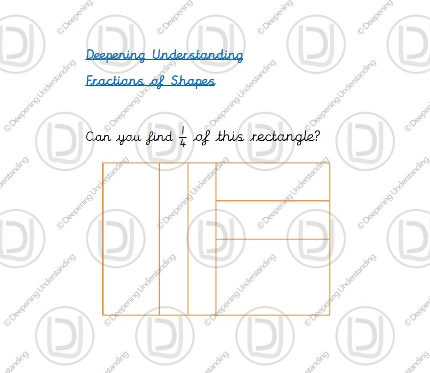 Year 2 – Fractions of Shapes