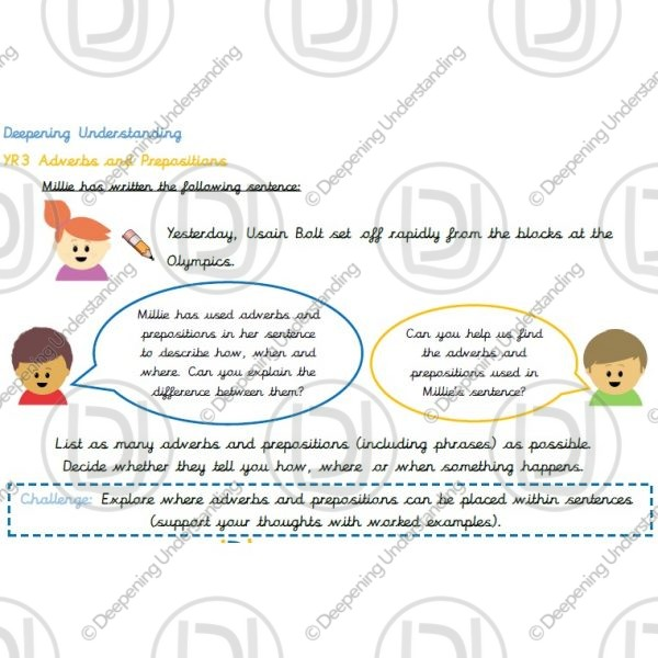 Year 3 - Adverbs and Prepositions