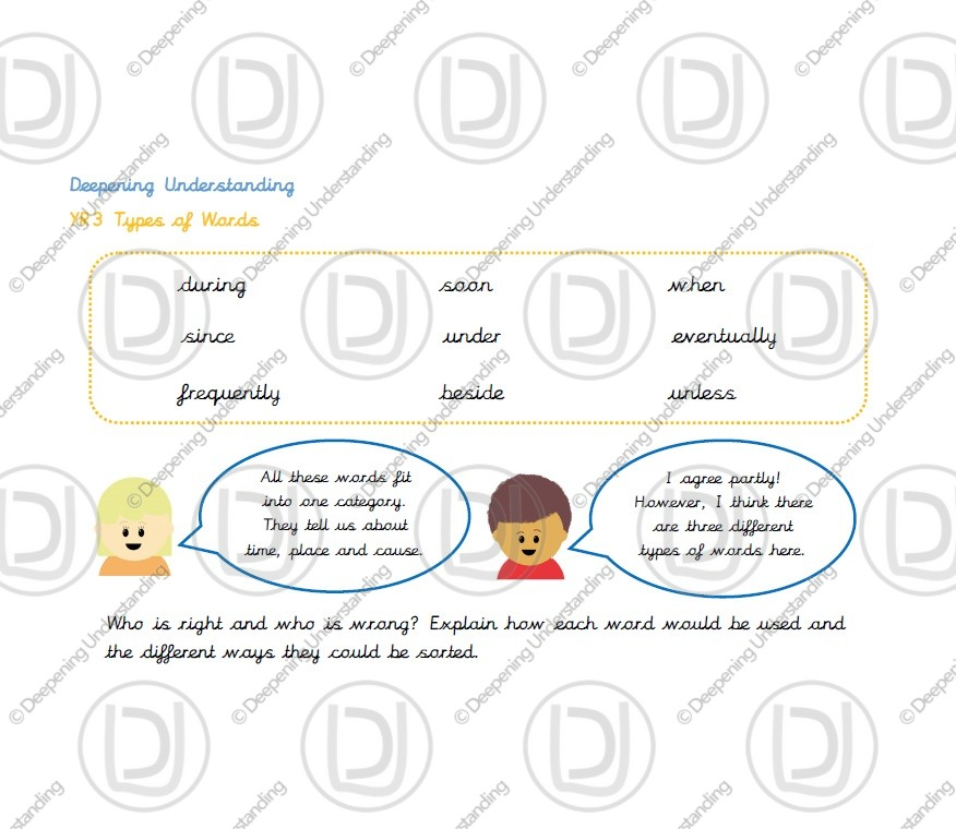 Year 3 – Adverbs, Conjunctions and Prepositions