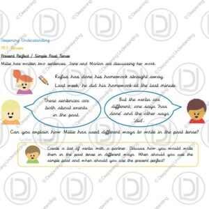 Year 3 - Present Perfect and Simple Past Tense