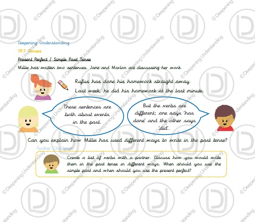 Year 3 – Present Perfect and Simple Past Tense