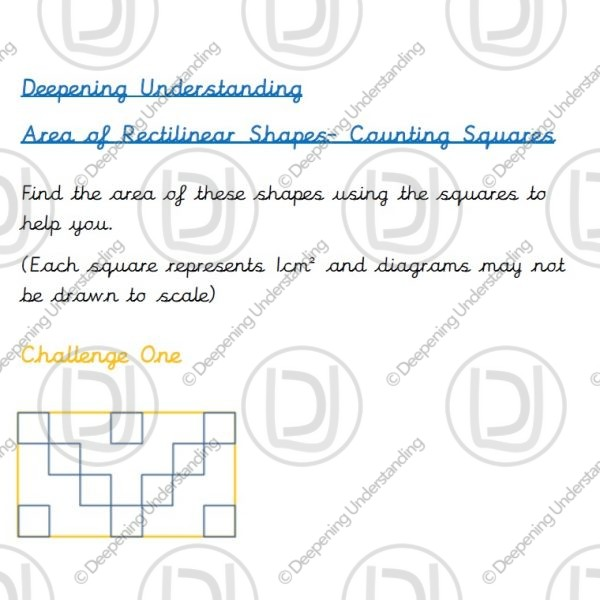 Year 4 Area - Counting Squares