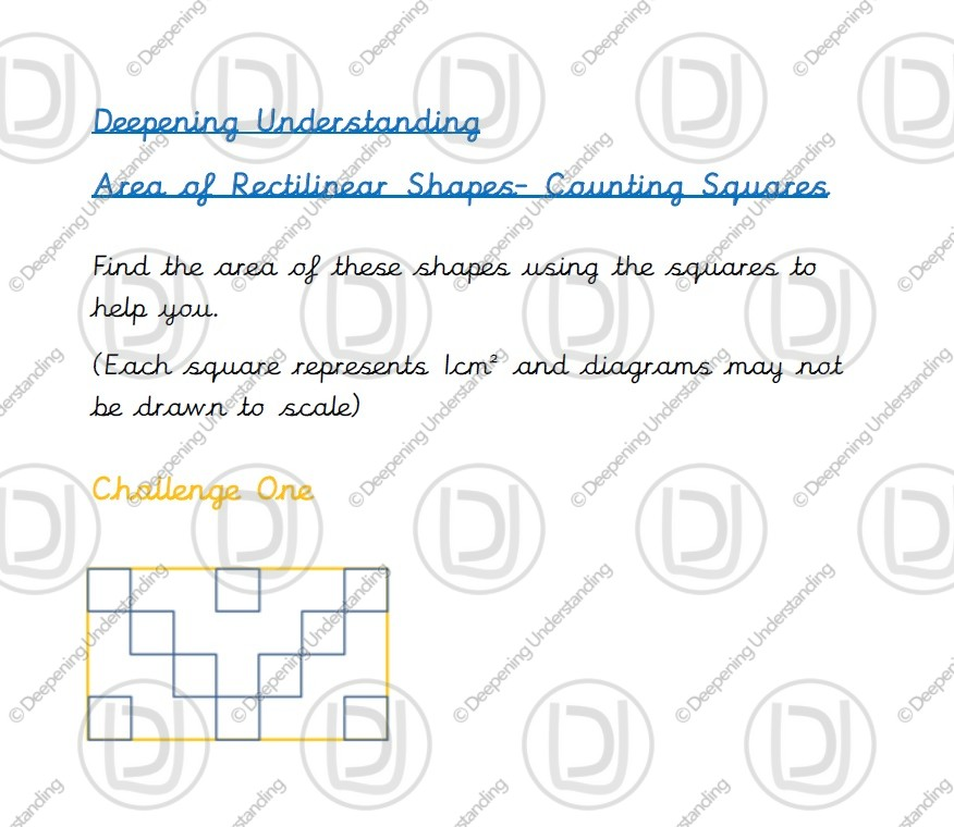 Year 4 Area – Counting Squares