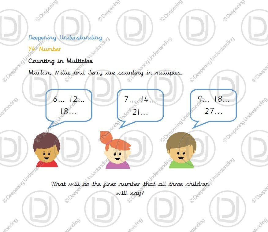 Year 4 Counting in Multiples – 6, 7, 9, 25 and 1000