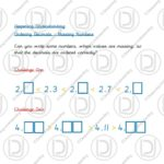 Year 4 – Ordering Decimals (Missing Numbers)