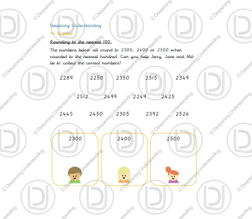 Year 4 – Rounding to the Nearest 100