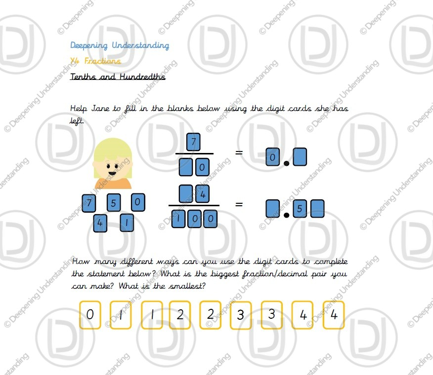Year 4 – Tenths and Hundredths