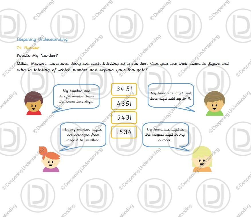 Year 4 Place Value – Value of Digits