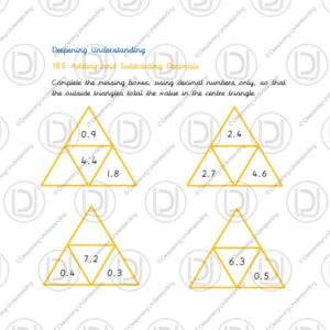 Year 5 - Adding and Subtracting Decimals Triangles