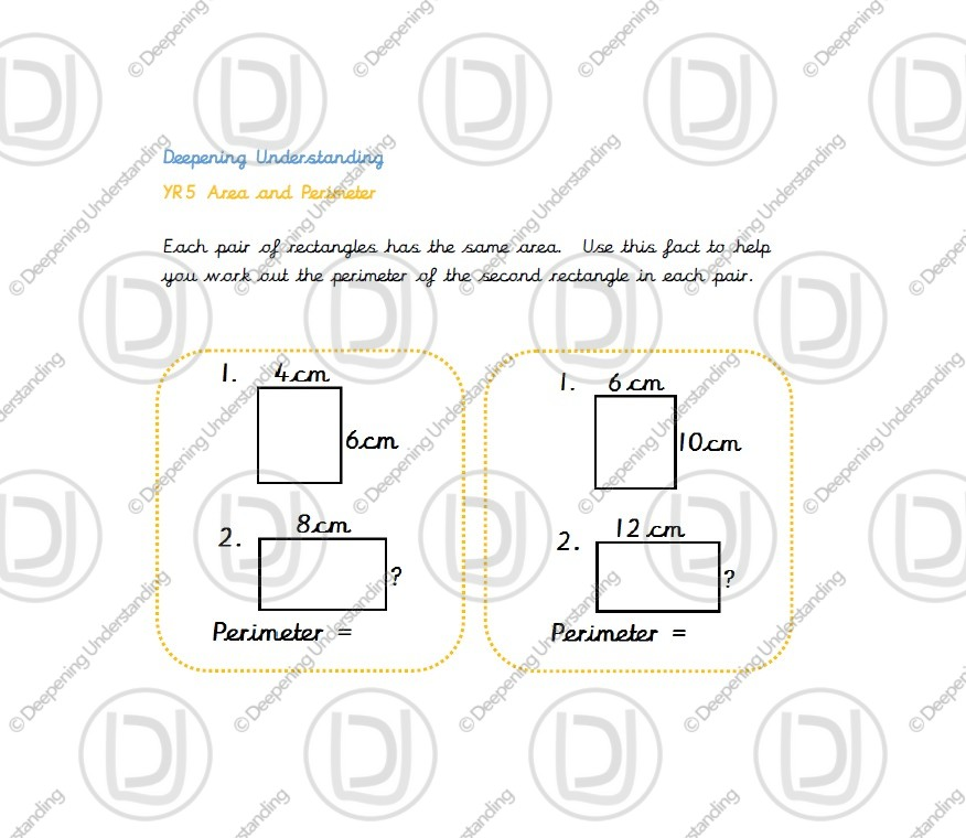 Year 5 – Find the Perimeter