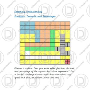 Year 5 Fractions, Decimals and Percentages - 100 Square