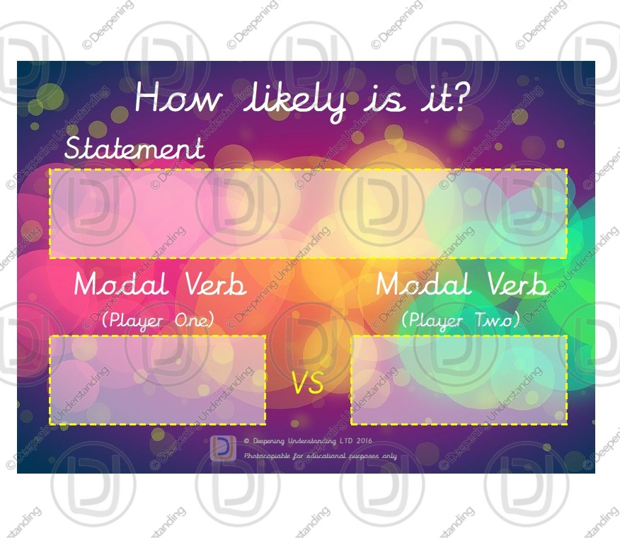 Year 5 Modal Verb Game – How likely is it?