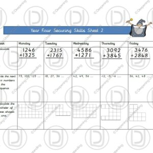 Year 4 Maths - Securing Skills Test 2
