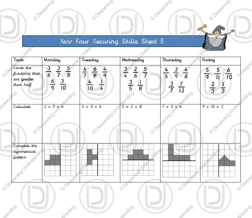 Year 4 Maths – Securing Skills Test 5