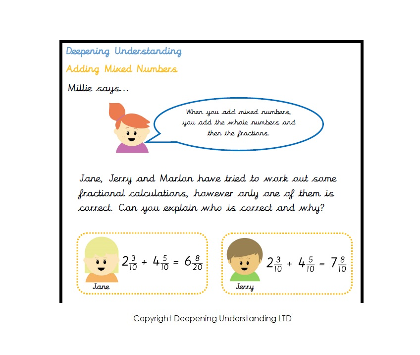 Year Five – Adding Mixed Numbers