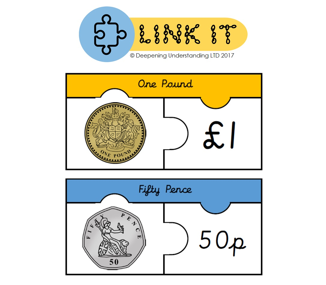 YR1 Recognising Coins - Link It!