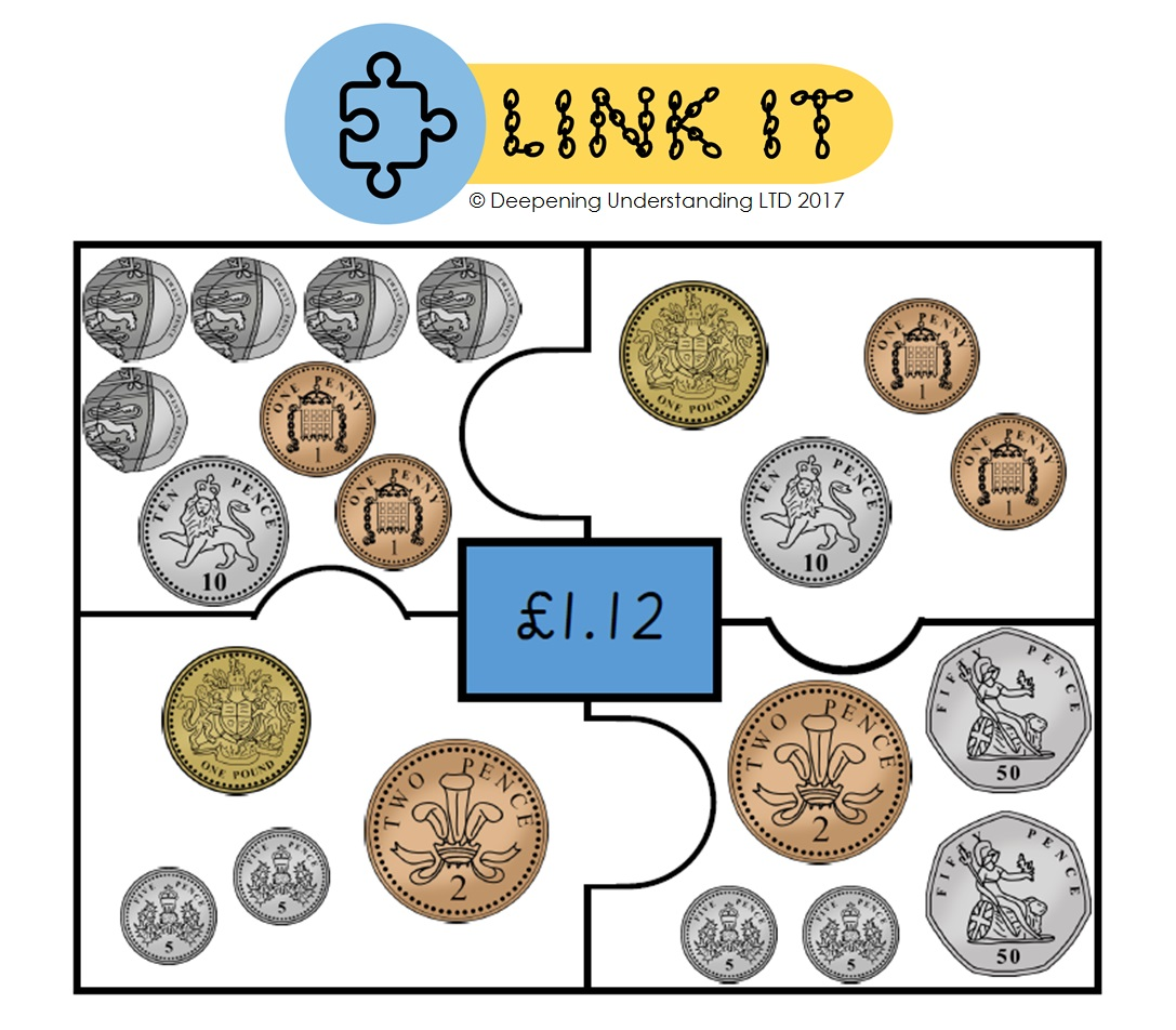 Year 2 Combining Coins – Link It!