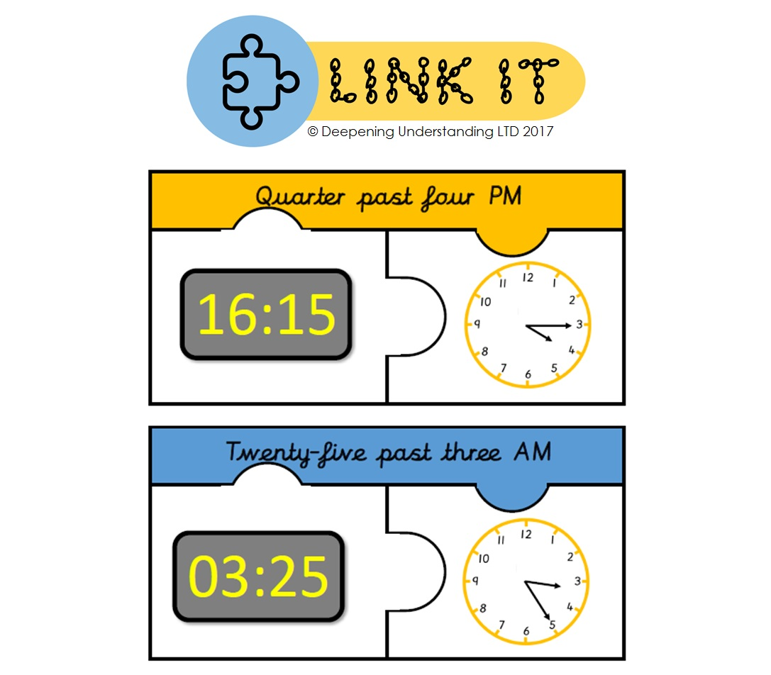 YR3 12 and 24 Hour Time - Link It!