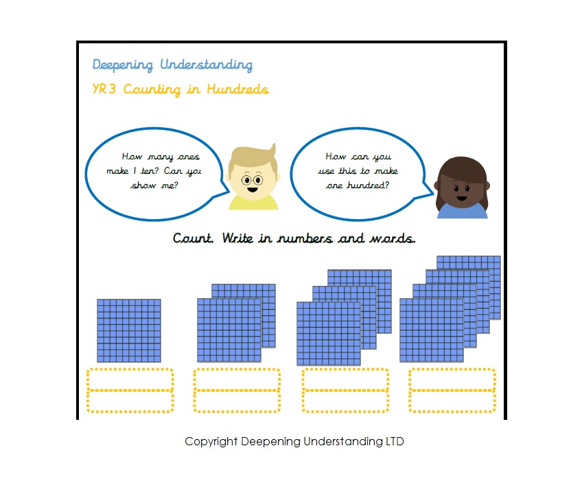 Year 3 – Counting in Hundreds (100s)