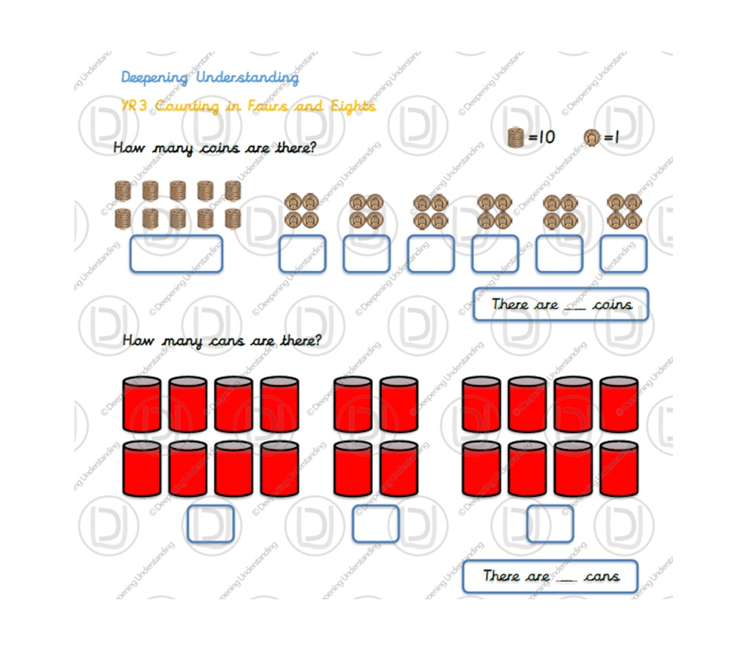 YR3 Counting in 4s and 8s