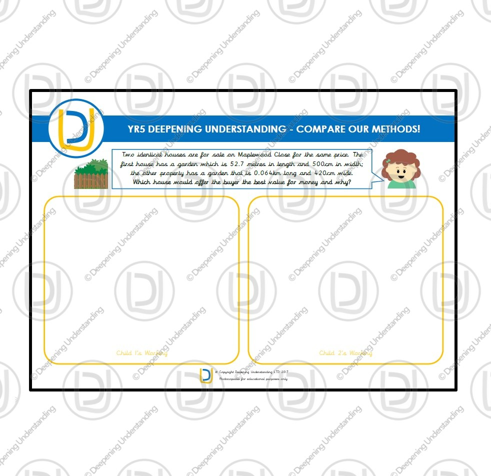 YR5 Compare Our Methods – House Gardens Question