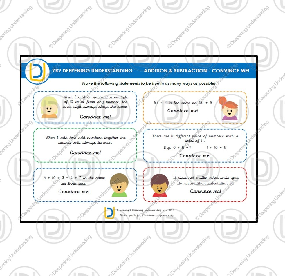 YR2 Addition and Subtraction – Convince Me!