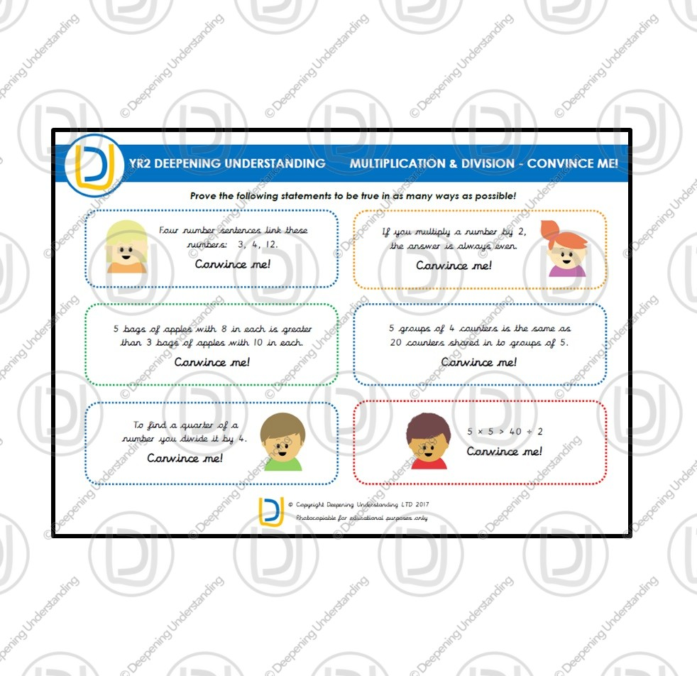 YR2 Multiplication and Division – Convince Me!