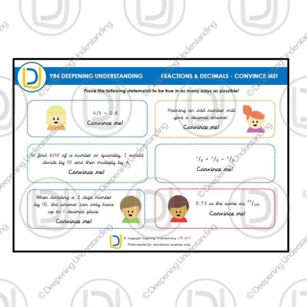 YR4 Fractions and Decimals – Convince Me!