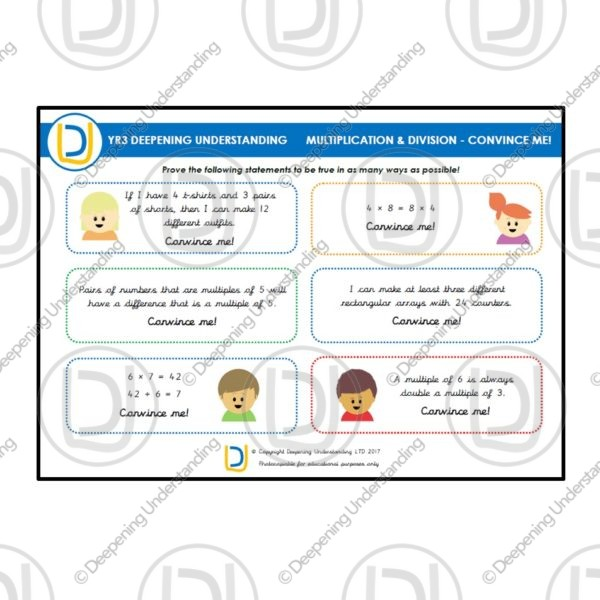 YR3 Multiplication and Division – Convince Me!