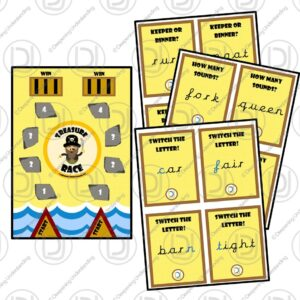EYFS Phonics Phase 3 Treasure Race Game