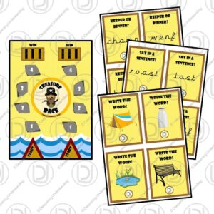 EYFS Phonics Phase 4 Treasure Race Game