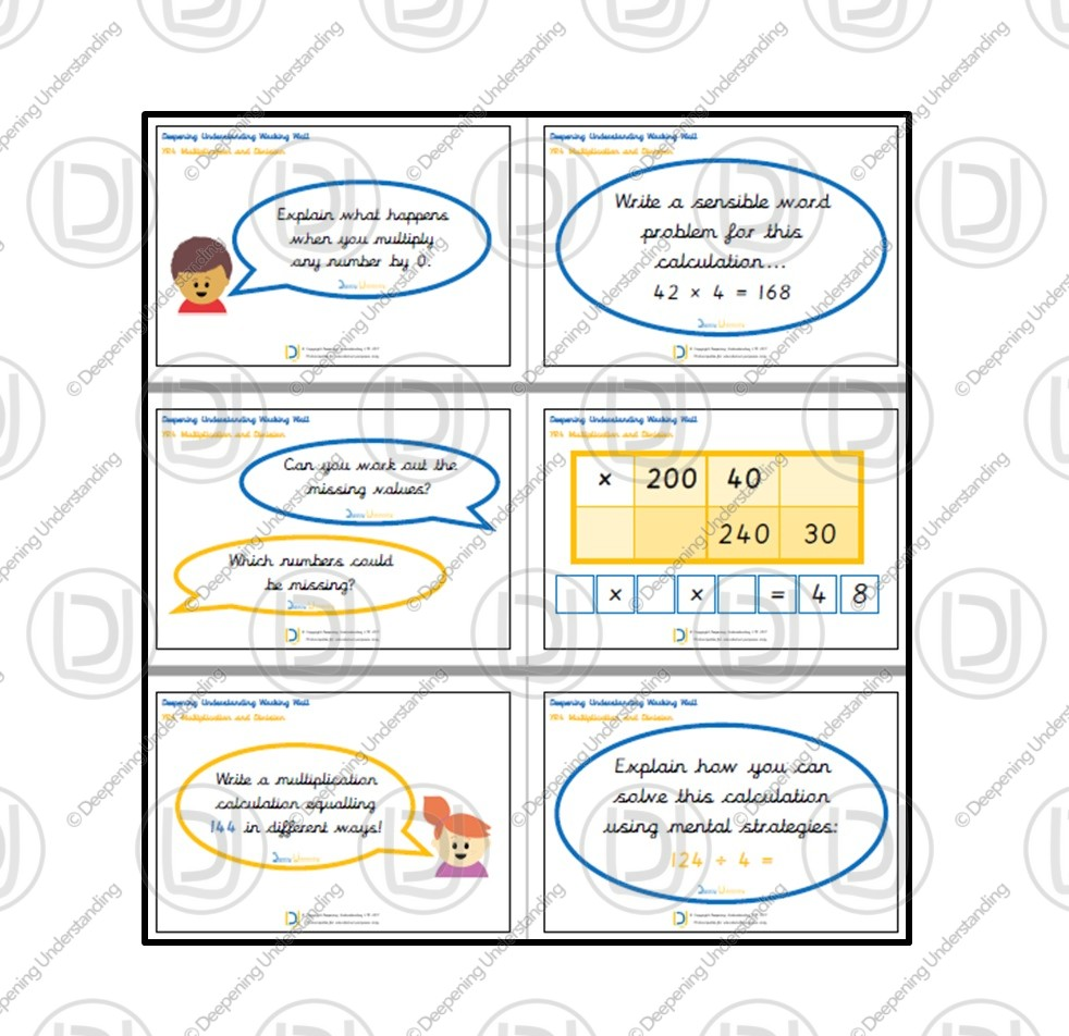 YR4 Working Wall – Multiplication and Division