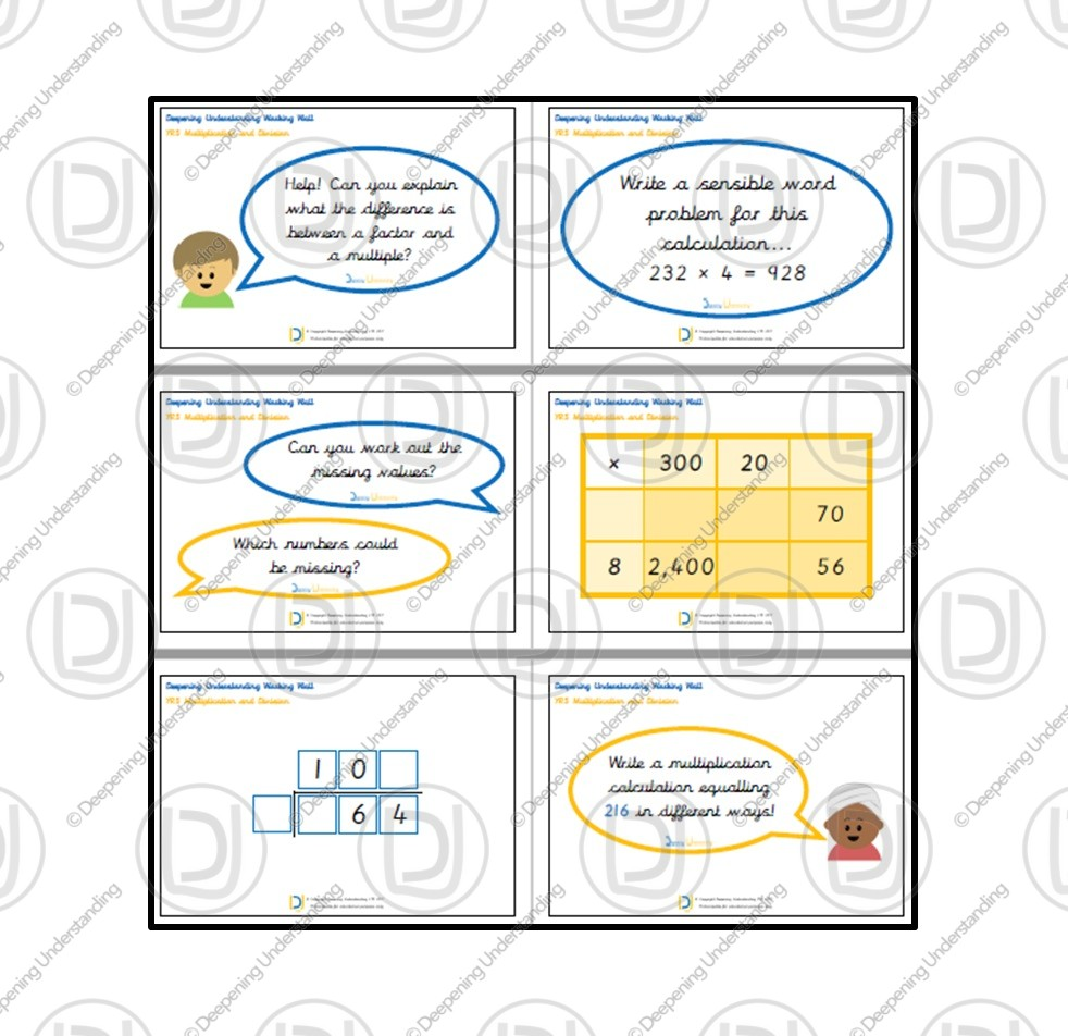 YR5 Working Wall – Multiplication and Division