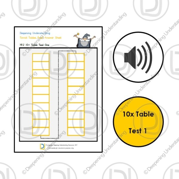 YR2 Torrid Tables – 10x Table Rapid Recall Test 1