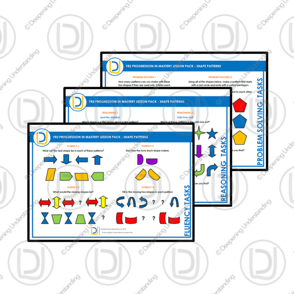 YR2 Progression in Mastery Pack – Shape Patterns