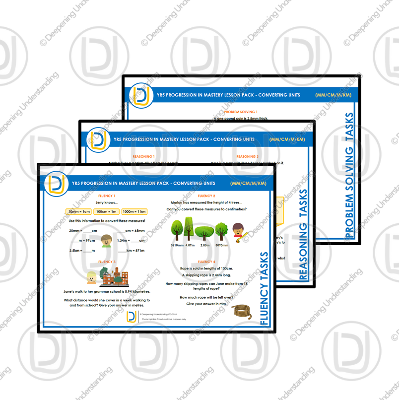 YR5 Progression in Mastery Pack – Converting Measures (Length)