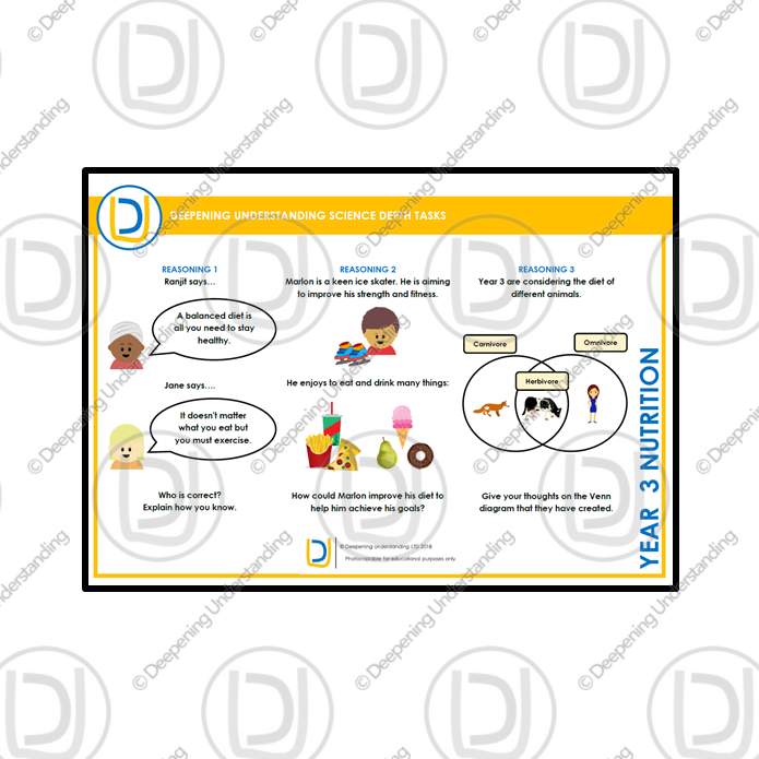 YR3 Science Depth Tasks – Nutrition
