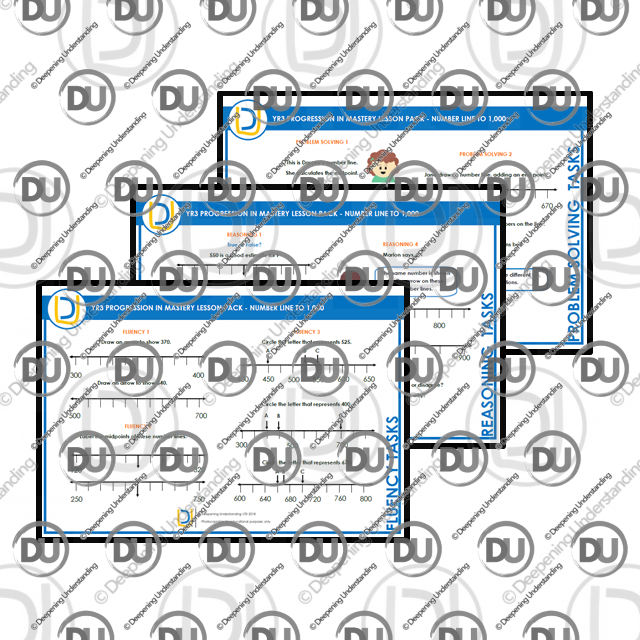 YR 3 Progression in Mastery Pack – Numberline to 1,000