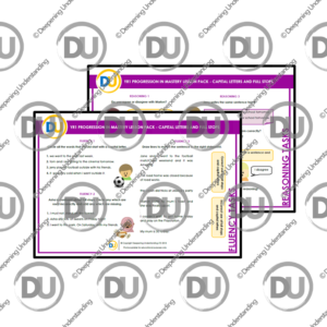 YR1 Progression in Mastery Pack – Capital Letters and Full Stops
